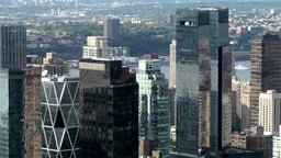 New York City 710 towers of Hearst Corporation & Time Warner Center Footage