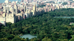 New York City 714 Central Park lakes and view to upper west side Footage