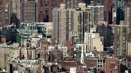 New York City 718 Lexington Avenue and Upper East Side from above Footage