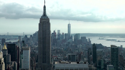 New York City Lower Manhattan from Rockefeller Center rooftop Footage