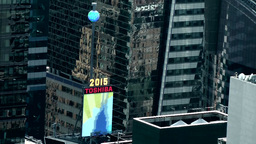 New York City 722 the Times Square Ball from above Footage