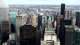 New York City 724 buildings at midtown east side from above Footage