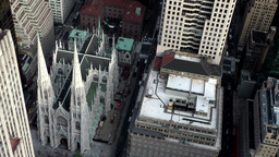 New York City 725 Saint Patrick's Cathedral in 5th Avenue from air Footage