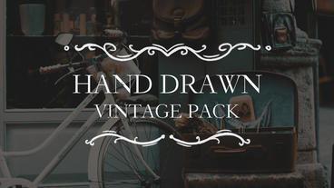 Hand Drawn Vintage Pack Premiere Pro Template