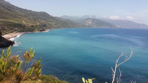 view of coast from pollina (sicily - italy) Footage