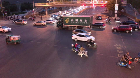 Beijing China Rush Hour Stock Video Footage