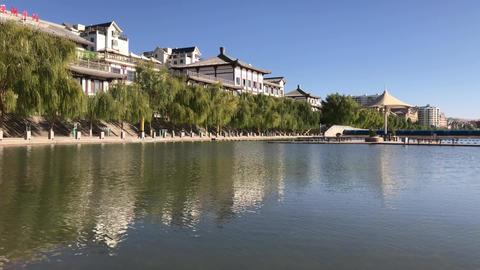 Dunhuang City Lake China Footage
