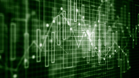 4K Financial Charts and Figures Live Action
