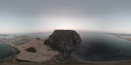 Jeju Sungsan Ilchulbong, sunrise in Korea VR 360° Video
