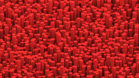 Surface with red cylinders animation background Animation