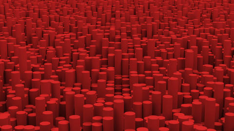 Surface with red cylinders close up animation background GIF