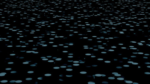Gray circles move on the surface in the dark close up animation background Animation