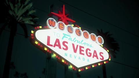 Las Vegas Sign - Nighttime Crash Pan Left2Right Animation