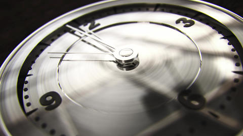 Modern Clock Face 12 On The Dot 4K noir Animation