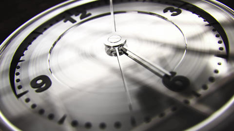 Modern Clock Face 5 Past 6 4K noir Animation