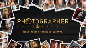 Photographer logo reveal part 1 Apple Motionテンプレート