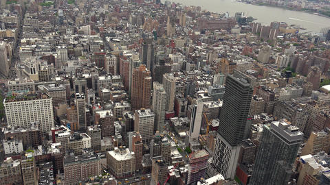 New York City, USA: New York City Manhattan skyline buildings wide shot from the Footage
