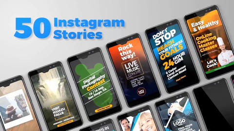 50 Instagram Stories After Effects Template