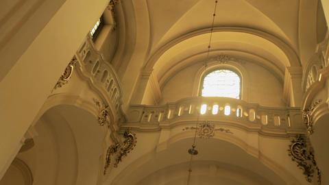 Beautiful interior of the Catholic Church Footage