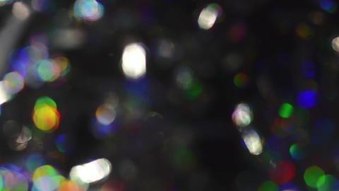 Abstract defocused Christmas Lights Bokeh Background Footage
