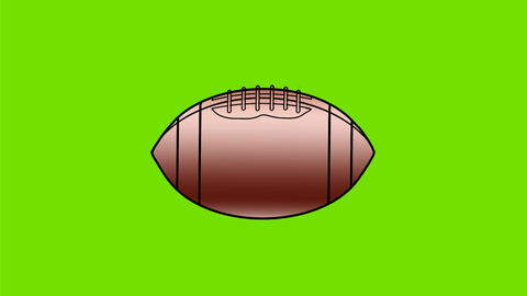 American Football Ball Spin Color 2D Animation Animation