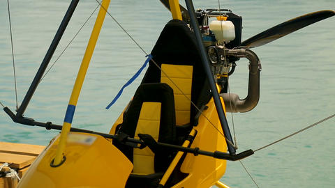 Hang-glider details closeup, extreme hobby, active lifestyle, summer vacation Live Action
