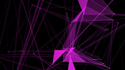 abstract in diffrent color geometrical background with moving lines and dots Animation
