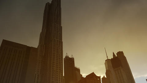 New York City, USA: Centre Street with a view of New York by Frank Gehry Live Action