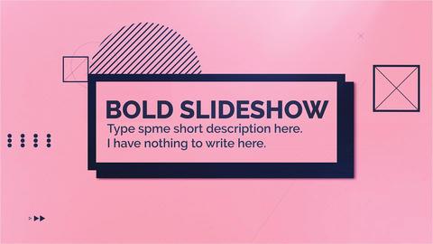 Bold Slideshow Premiere Pro Template