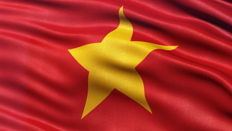 4K Vietnam flag seamless loop Animation