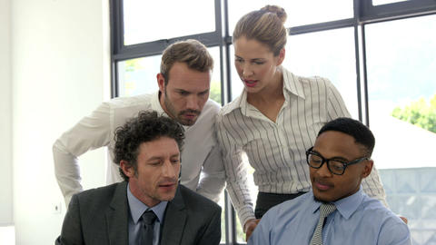 Business people working together Live Action