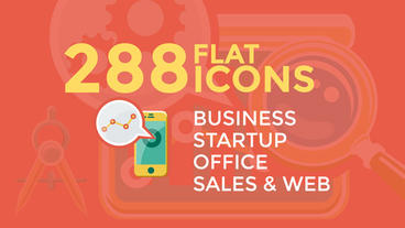 Business & Startup Flat Icons stock footage