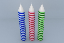Spiral Birthday Candles 3D Model