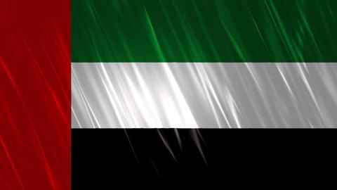 United Arab Emirates Flag Loopable Background Animation
