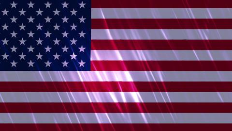 United States of America Flag Loopable Background Animation