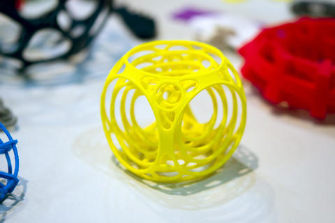 Abstract object printed by 3d printer close-up Fotografía