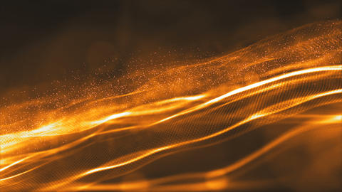 Particles wave abstract background 0070 Animation