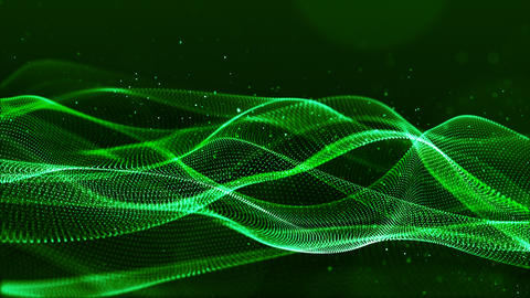 Particles wave abstract background 0077 Animation