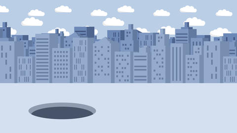 Business woman fall into the hole. Background of…, Stock Animation