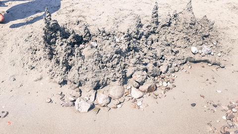 Beautiful Mountain Landscape made of sand Photo