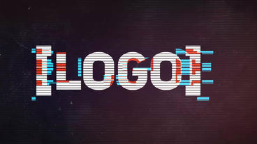 Cinematic Glitch Logo After Effectsテンプレート