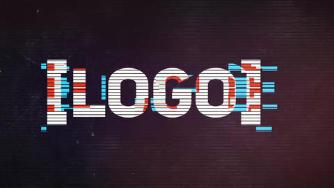Cinematic Glitch Logo After Effects Template