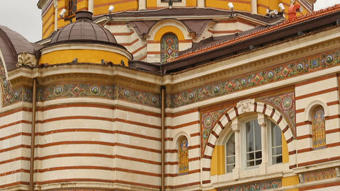 Exterior look of Central Mineral Bathes in Sofia, Bulgaria, place of interest Live Action