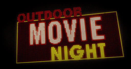 Outdoor Movie Night intro Stock Video Footage