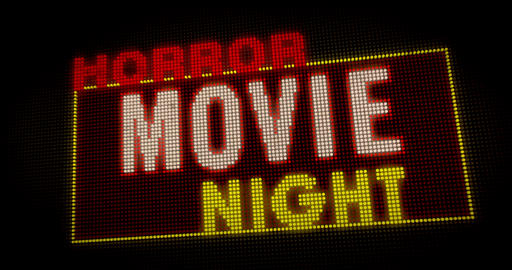 Horror Movie Night intro Animation