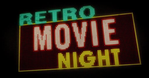 Retro movie night intro Animation