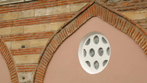 Exterior elements of Banya Bashi Mosque in Sofia, reconstruction, preservation Live Action