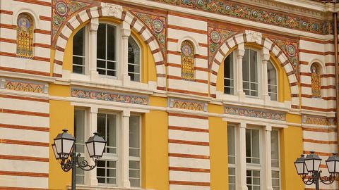 Adornments of Central Mineral Bathes exterior in Sofia, water therapy, health Live Action