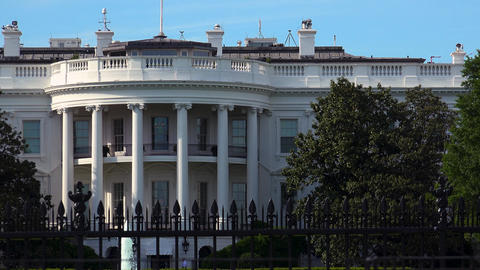 WASHINGTON, DC, USA - The south of the White House,zoom out Live Action