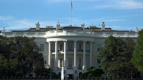 WASHINGTON, DC, USA - The south of the White House Stock Video Footage